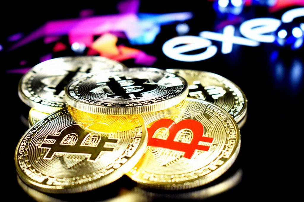 Generic picture of some physical bitcoins, which don't even really exist.