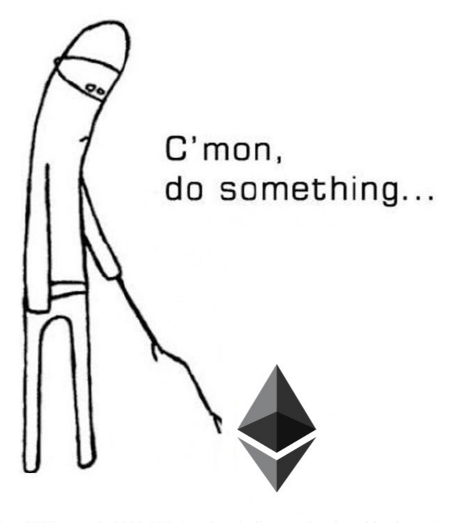Ethereum c'mon do something meme
