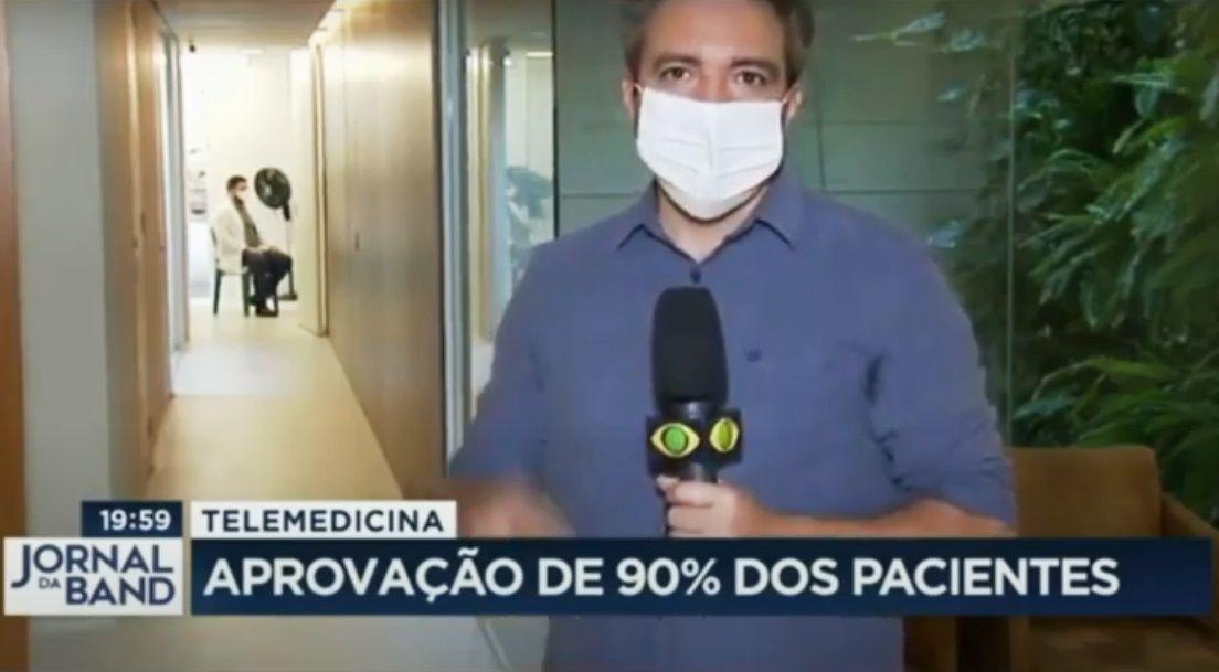 Ninsaúde Apolo no Jornal da Band: matéria aborda uso da telemedicina