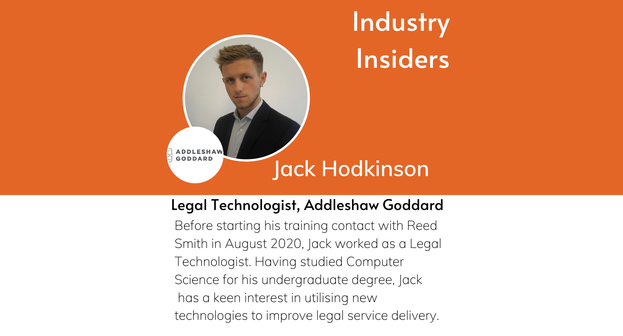 Industry Insiders - The Work of a Legal Technologist