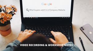 Workshop Takeaways : How to create an effective B2B Company Website