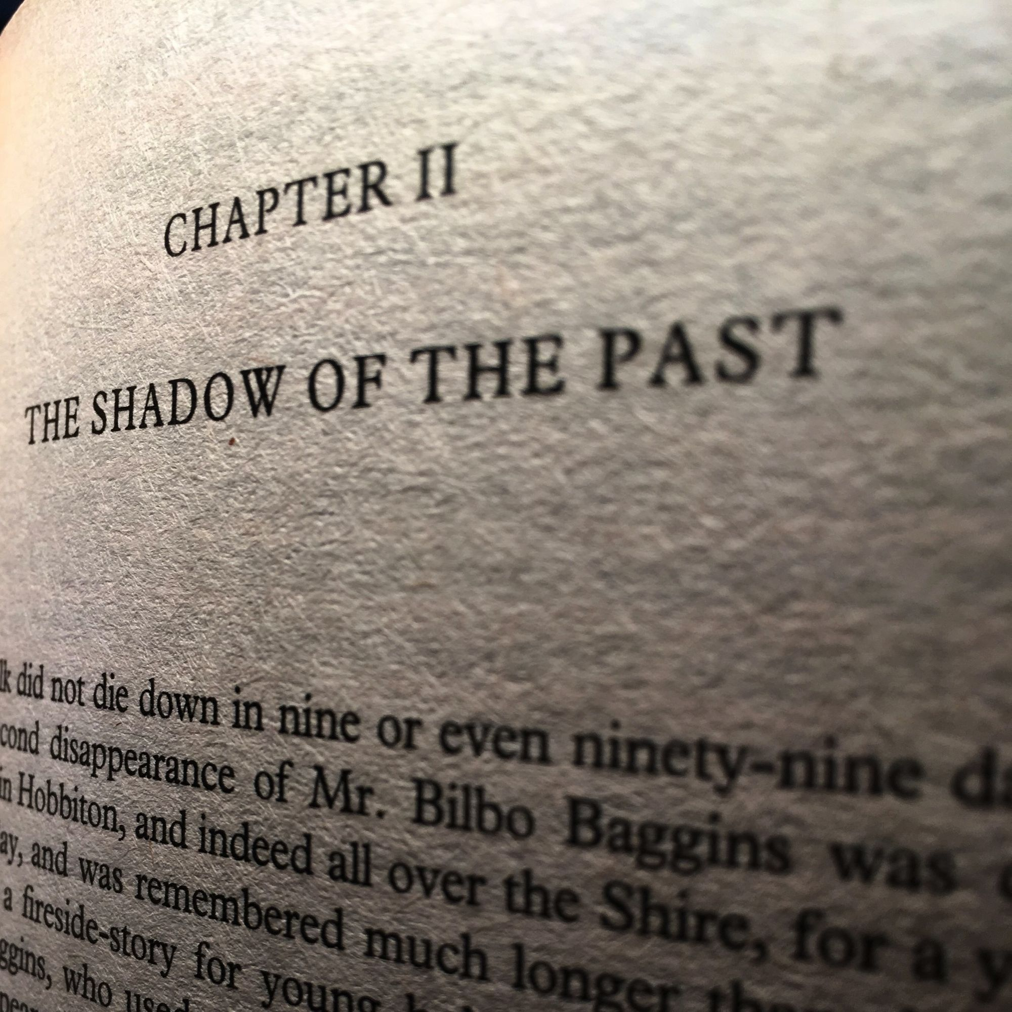 The Fellowship of The Ring: The Shadow of the Past