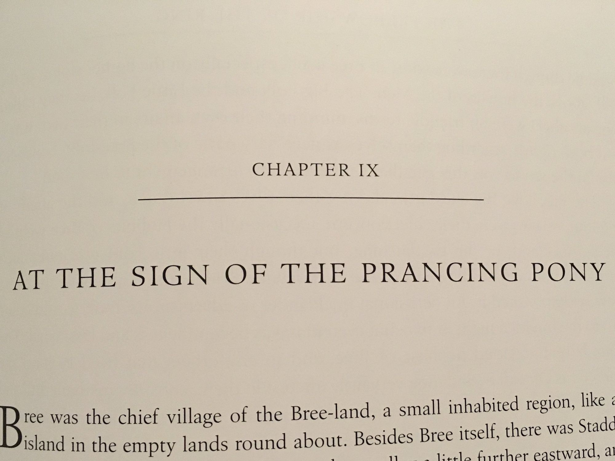 The Fellowship of The Ring: At the Sign of the Prancing Pony