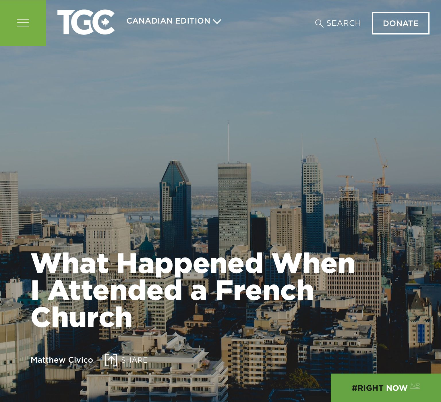 What Happened When I Attended A French Church