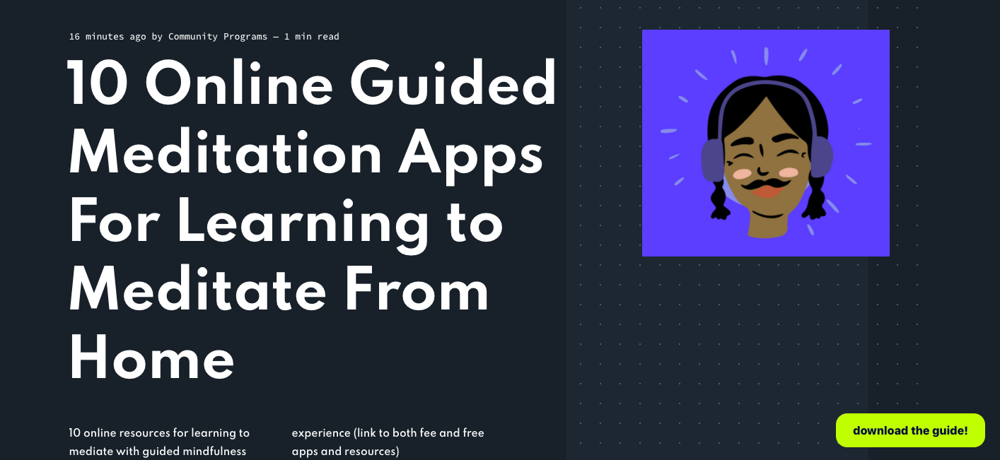 10 online guided meditation apps