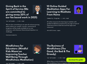 Writing, Teaching & Career Opportunities for Mindfulness Based Professionals