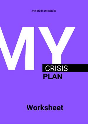 Crisis Plan Worksheet