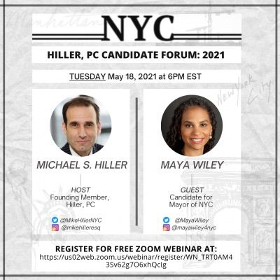 Maya Wiley Sits Down With Michael Hiller as New York City's Mayoral Primary Election Approaches