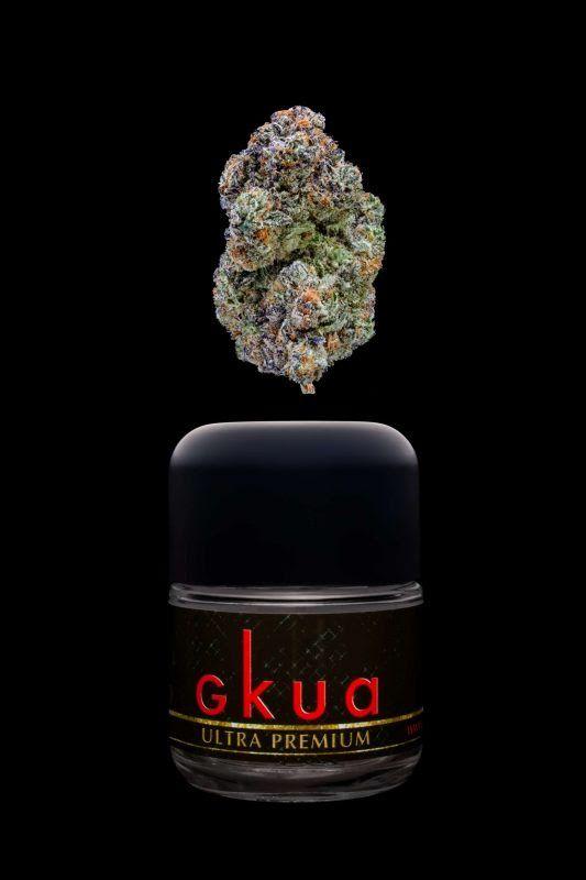 Glass-jar-containing-Oklahoma-Strain-of-GKUA-Kush
