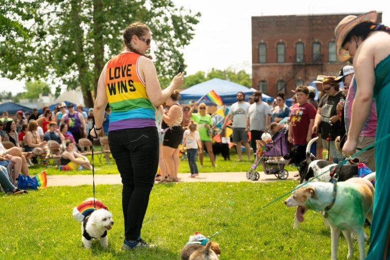 Spencer Pride's Pet Pride Parade (C) Joel Bottom, courtesy of Spencer Pride