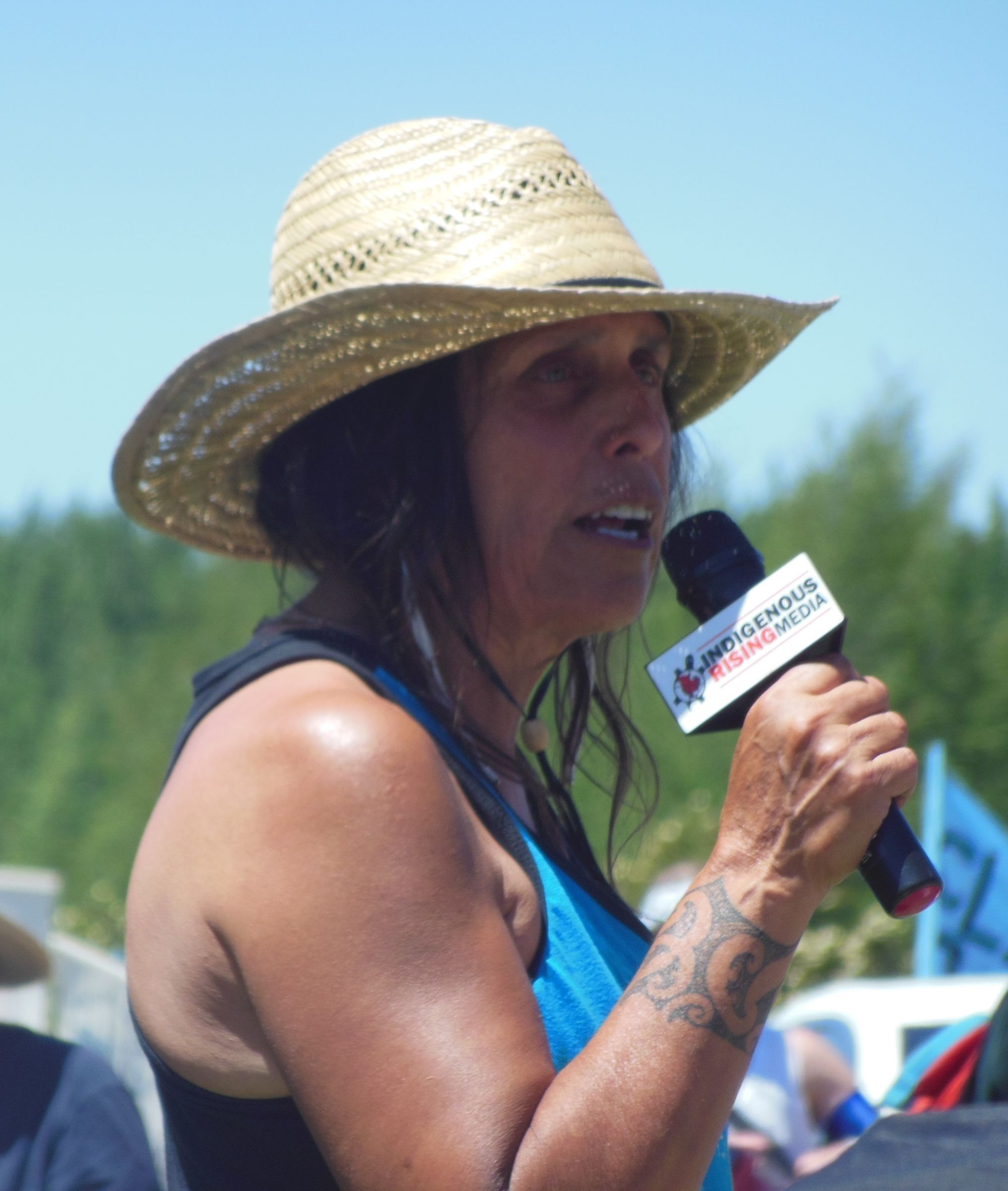 Winona LaDuke and Honor the Earth Activists Arrested for Protest of Oil Pipeline Construction During Severe Drought
