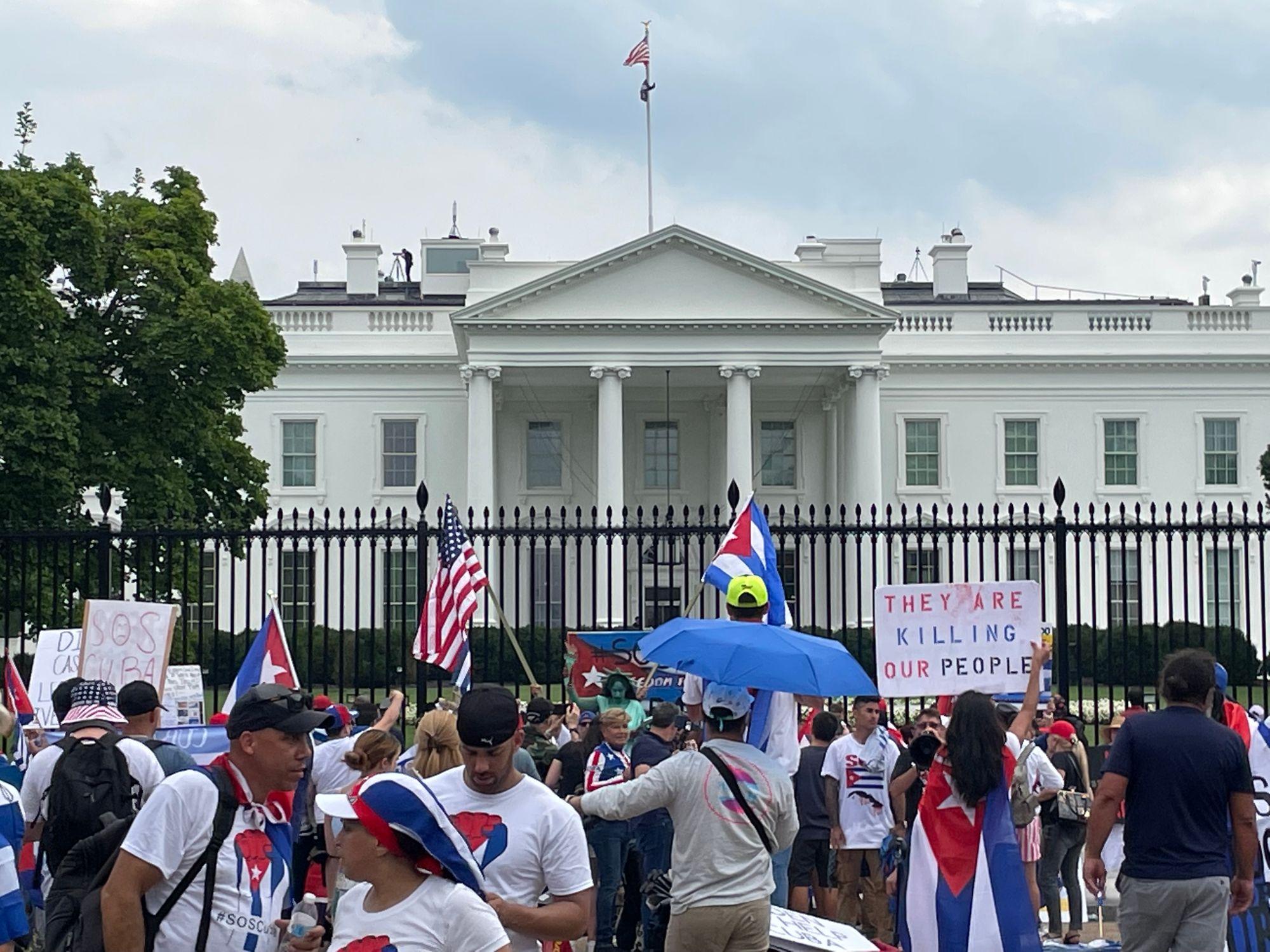 Cuban Americans Protest Embargo Politics at Puentes de Amor 2021