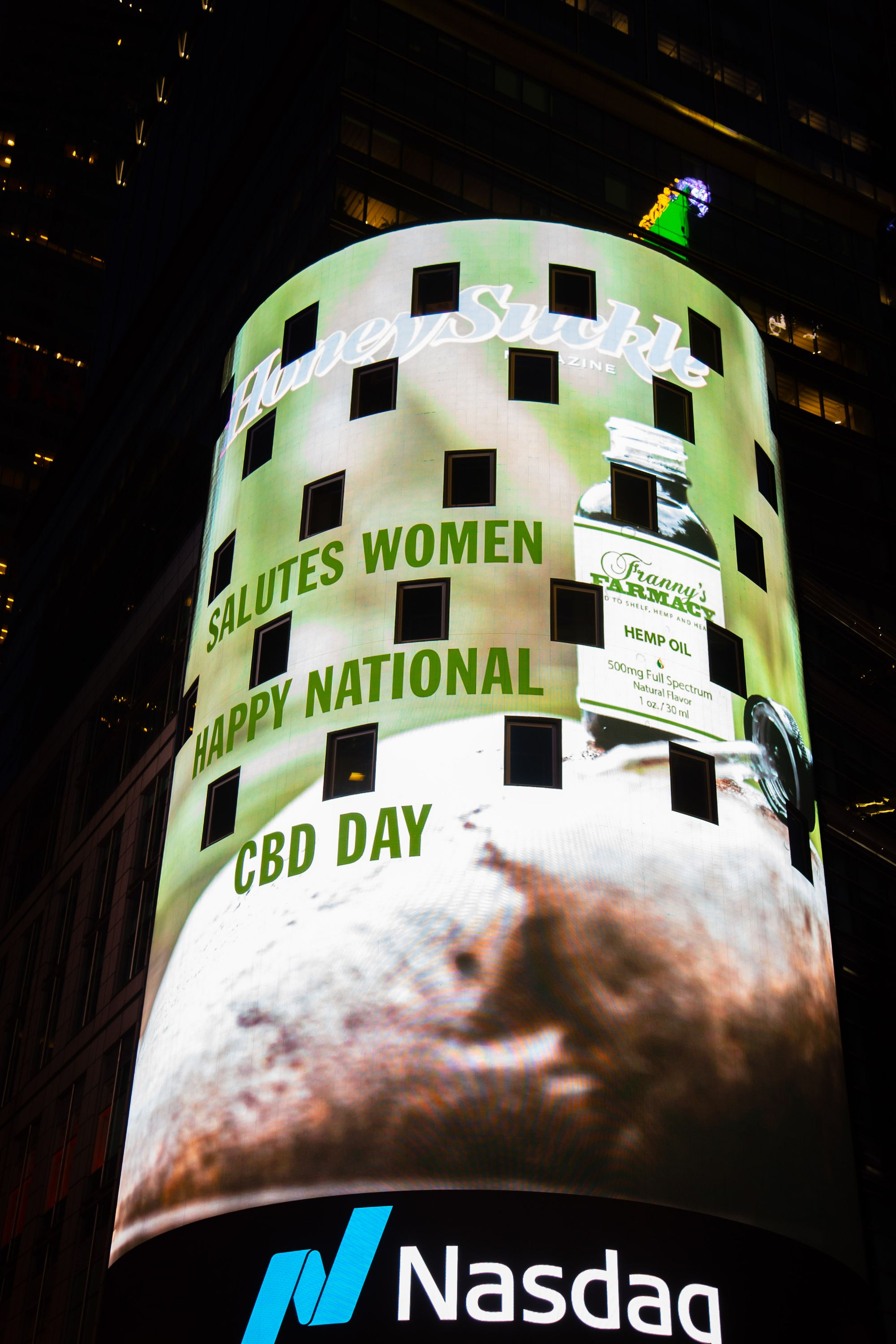 Honeysuckle Lights Up Times Square with First Nations, Women and Organics for National CBD Day