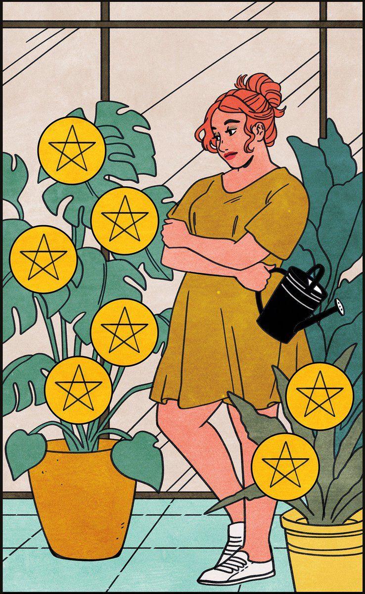 October's Tarot Draw: Seven of Pentacles