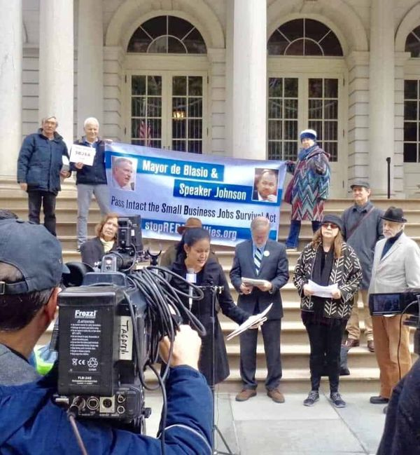 Small Businesses, Big Voices: Inside NYC's Rally in Support of the Small Business Jobs Survival Act