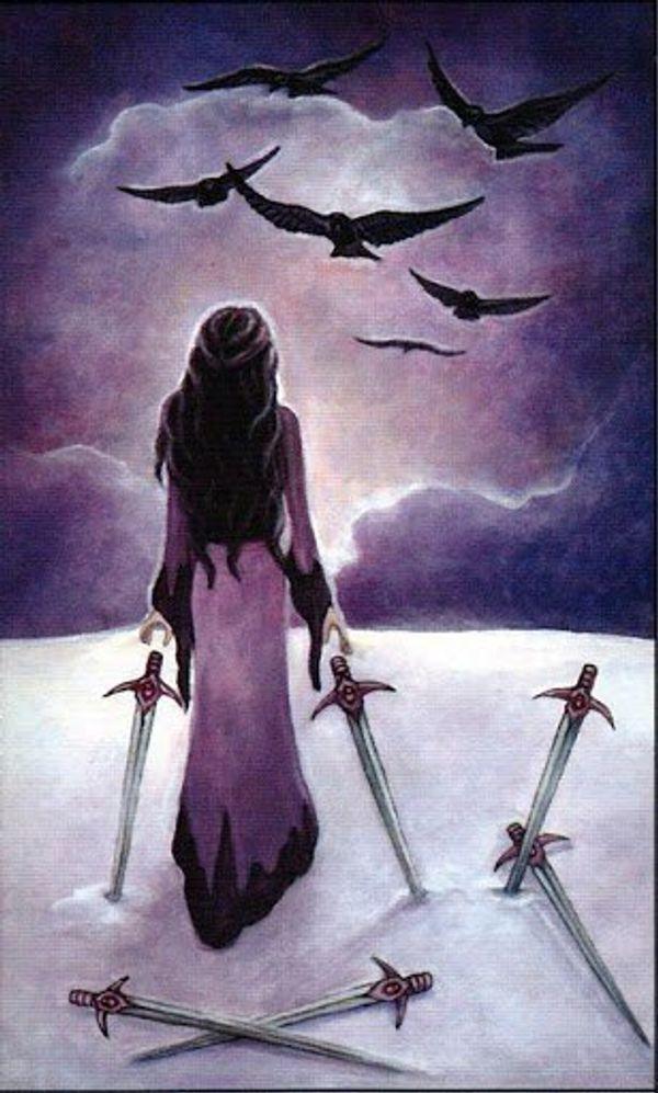 April Tarot- Six of Swords