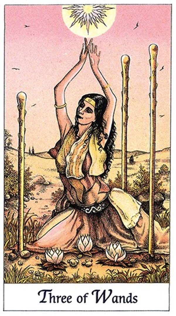 July's Tarot Draw: Three of Wands