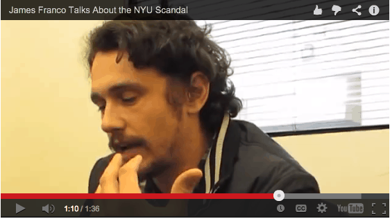 James Franco Talks About the NYU Scandal