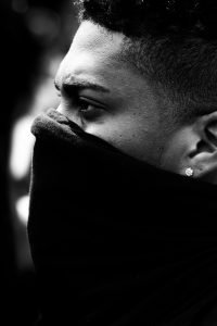 african-american-man-during-the-coronavirus-wearing-a-mask-at-black-lives-matter-protest