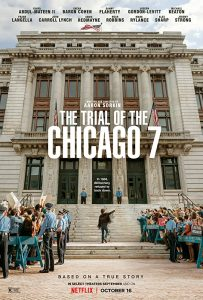 The movie poster for The Trial Of The Chicago 7.