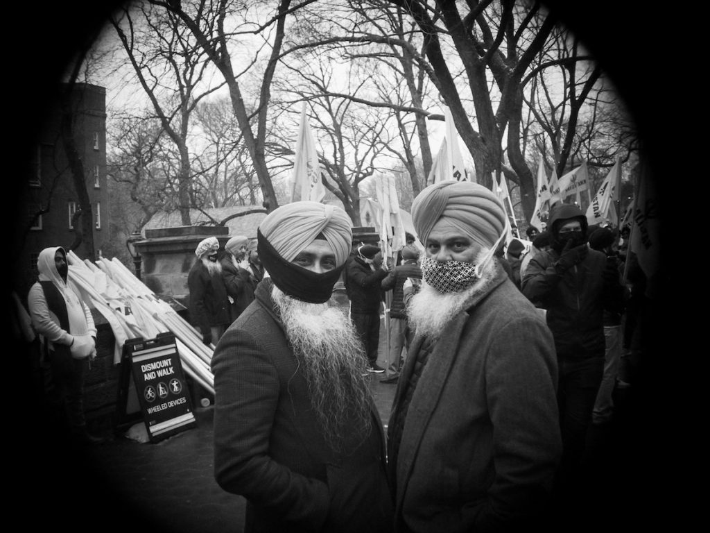 indian farmers, protest, new york