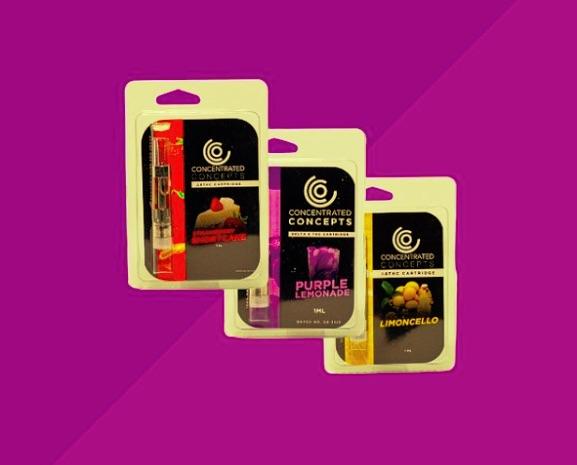 Packs of delta 8 cartridges.