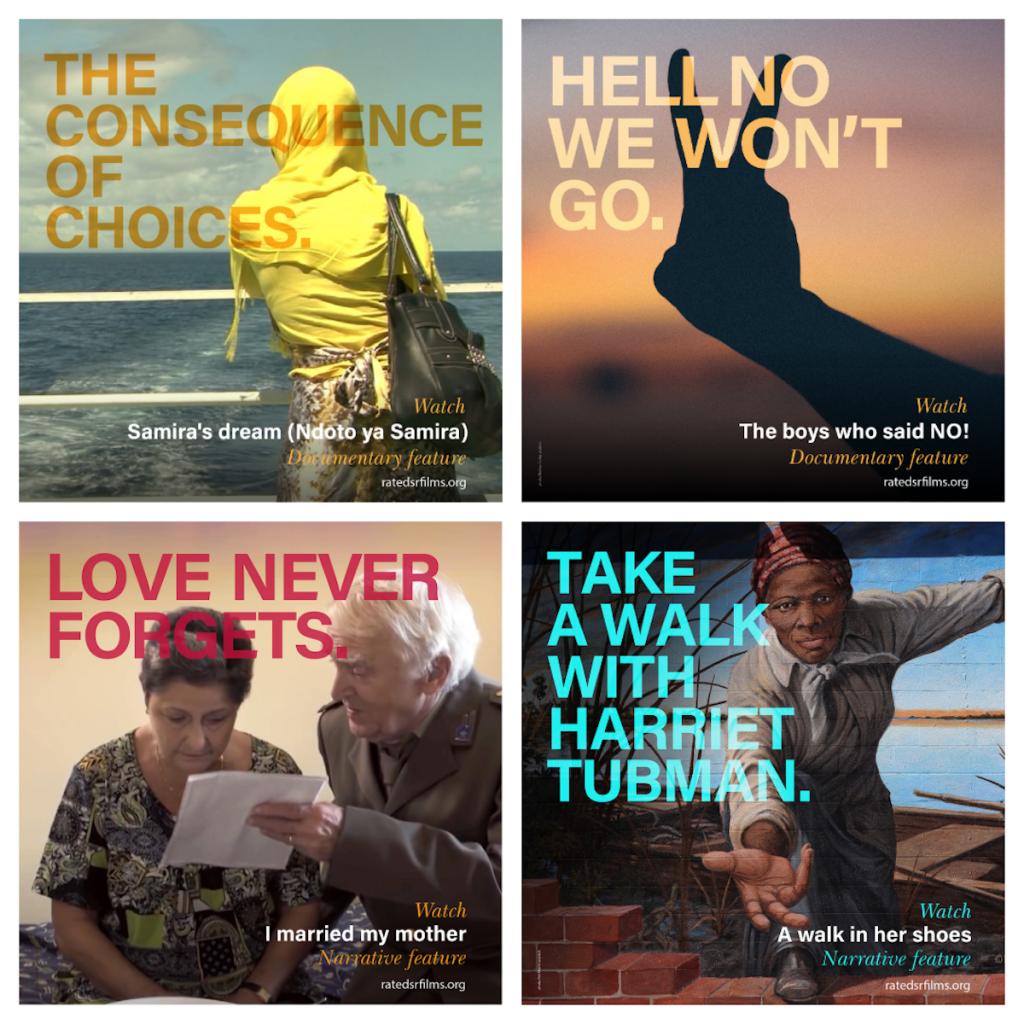 socially relevant film festival film posters