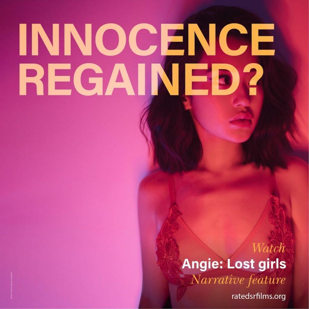 "socially relevant film festival ""Angie: Lost Girls"" film poster"