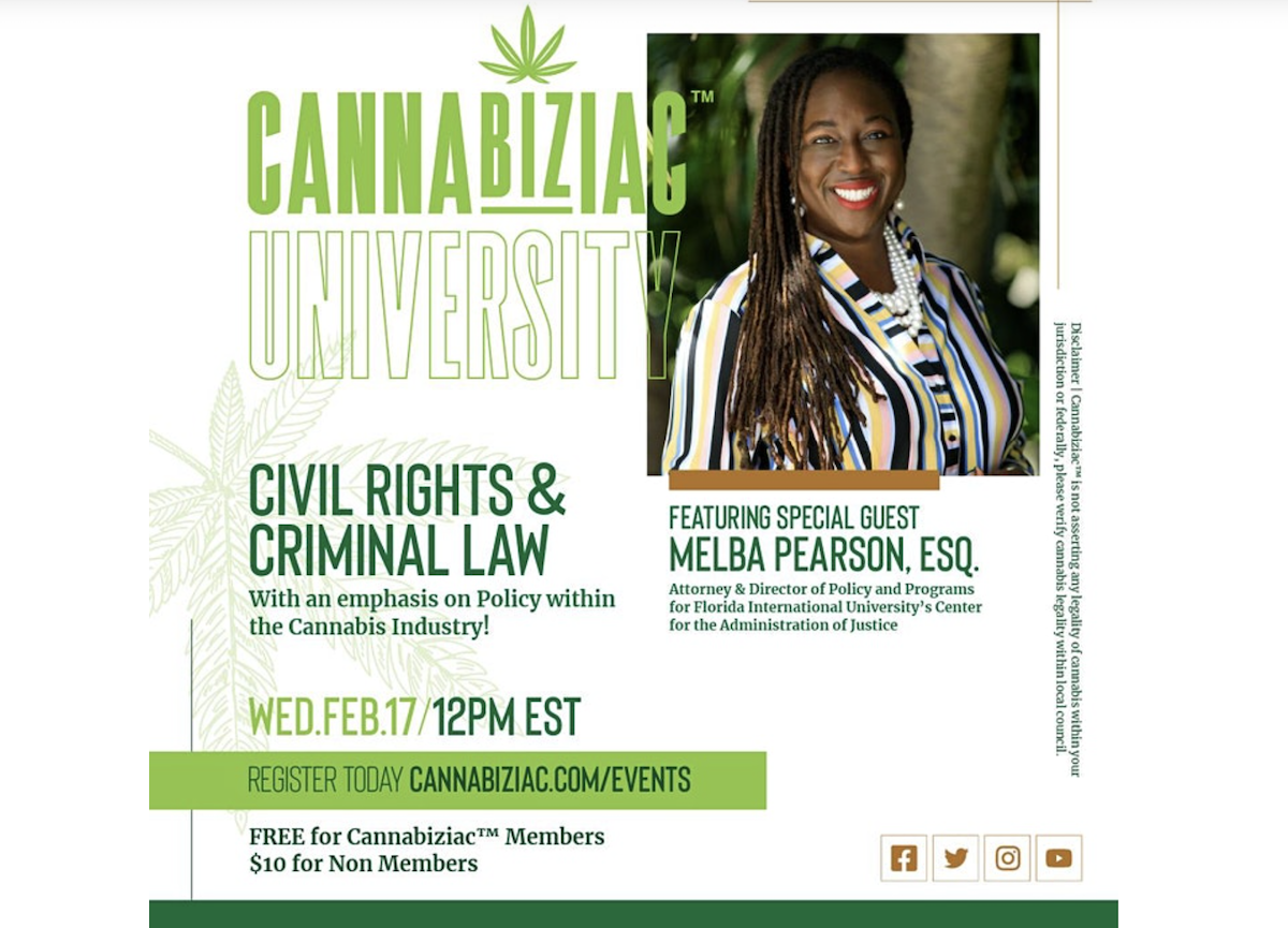 Cannabiziac Forum: Civil Rights, Criminal Law, and Black People in the Cannabis Industry