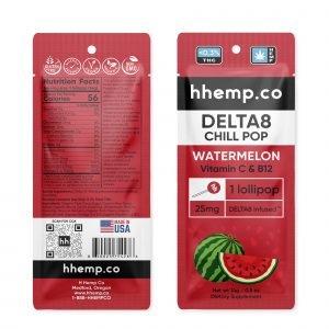 Hhemp delta 8 watermelon lollipop.